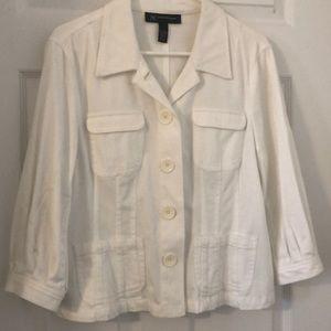 White cotton jean jacket